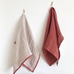 Winter Red Lithuanian Kitchen Cloth
