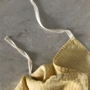 French Linen Kitchen Cloth (Yellow Stripes)