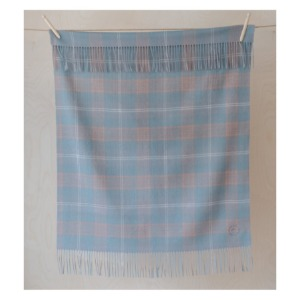 Pure Lambswool Kids Blanket (Misty Pink Check)