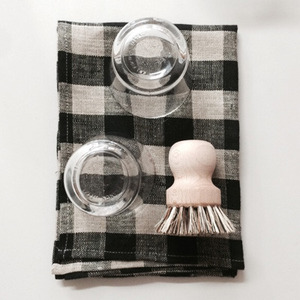 Thick Linen Kitchen Cloth (Brown Check)