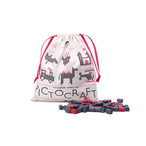 French Pictocraft (Charcoal&Red)
