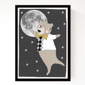 Seventy Tree Moonlight Poster (A3)
