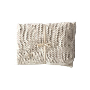 [재입고] Fog Linen Knitted Cotton Blanket (75 x 100 cm)