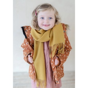 Pure Lambswool Kids Scarf (Mustard)