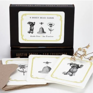 Letterpress Cards Set (Honey Bear Set)